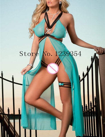 Exotic Long Lingerie Set-lingerie-Gift Box Planet-Blue-One Size-Gift Box Planet