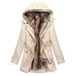 Faux Fur Women Thick Lining Winter Jacket