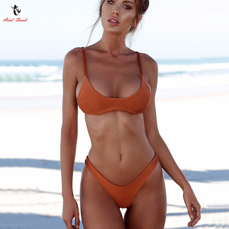 2018 Push Up Solid Bikini