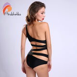 2018 Sexy One Piece Swimsuit - Bandage One shoulder Cut Out Monokini