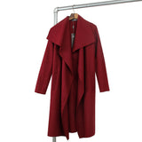 Hot sale 2016 new autumn high fashion trend street women's wool blend Trench Coat Casual long Outerwear loose clothing for lady