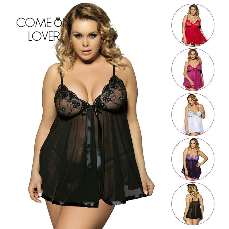 Erotic Plus Size Baby Doll Lingerie