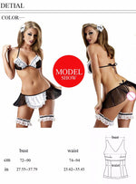 Sexy Lingerie Sheer Naughty Maid Uniform