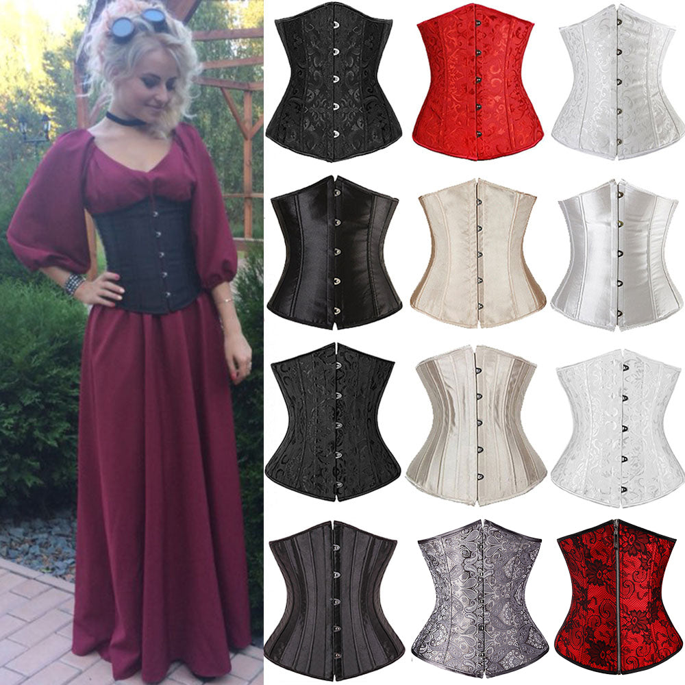 Women CorsetWaist Cincher Gothic Corset Top Bustier Plus Size S-6XL-lingerie-Gift Box Planet-Red-XXXL-China-Gift Box Planet