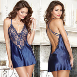 Ladies Lingerie Nightwear Sexy Low Back Chemise Robes Nightdress Nightie