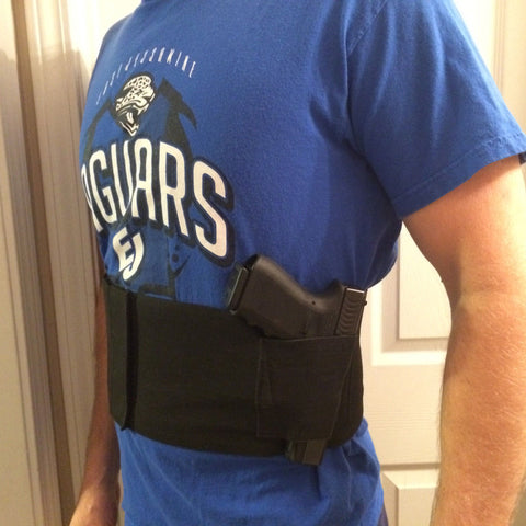 TACTICAL ADJUSTABLE BELLY BAND WAIST HOLSTER & 2 MAG POUCHES