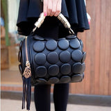 Fashion Leather Stereoscopic Handbag