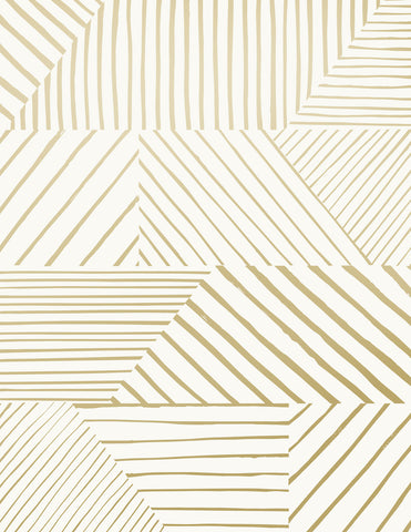 Parquet - Gold on Cream - Sample