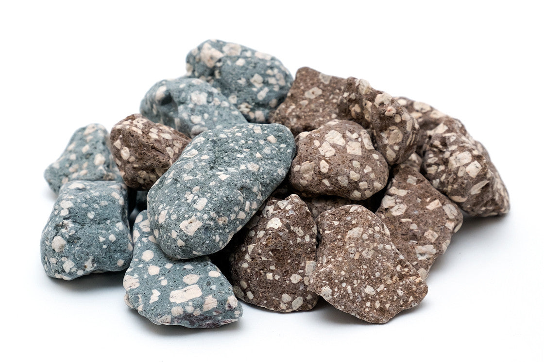 mixed silver mineral stones genzon water