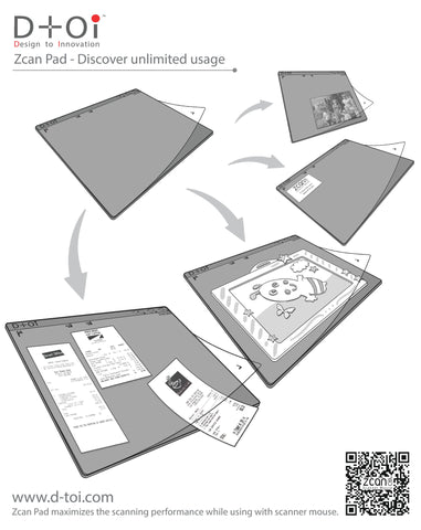 A4 Zcan Pad - a great tool to maxmize your scanning experience with scanner mouse