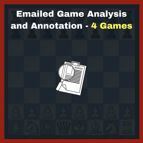 Emailed Chess Game Analysis For Very Advanced Players - 4 Games