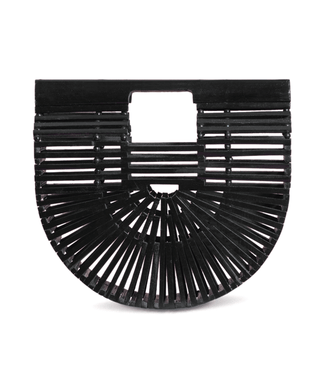Bamboo Clutch (Medium) - Onyx