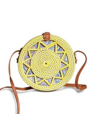 Rattan Bag (Medium) - Lemony