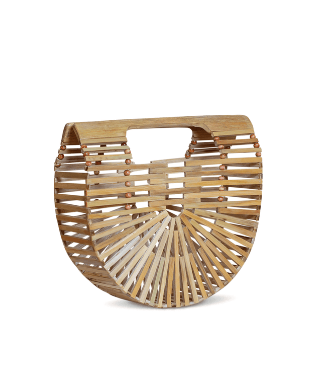 Bamboo Clutch (Small) - Barley
