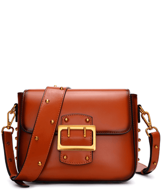 Leather Crossbody Bag - Hatty