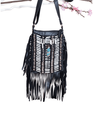 Black Boho Bag - Small & Square