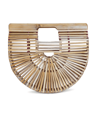Bamboo Clutch (Medium) - Sand
