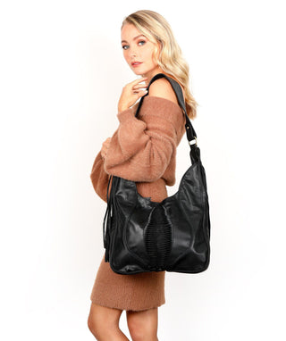 Leather Hobo Bag - Danna