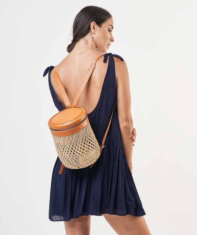 Rattan Backpack - Coco