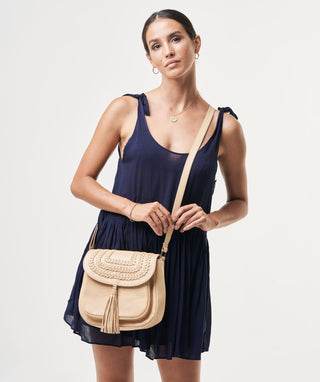 Leather Crossbody Bag - Jane