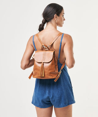 Leather Backpack - Ellorie