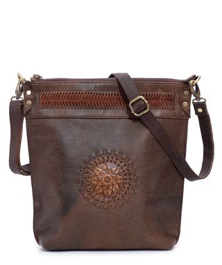 Leather Crossbody Bag - Sun