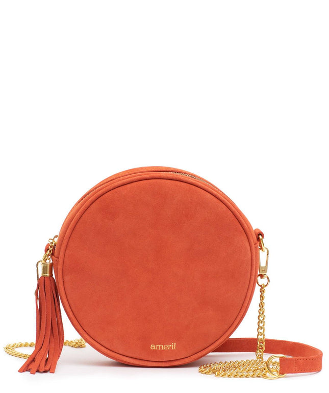 Leather Crossbody - Lava