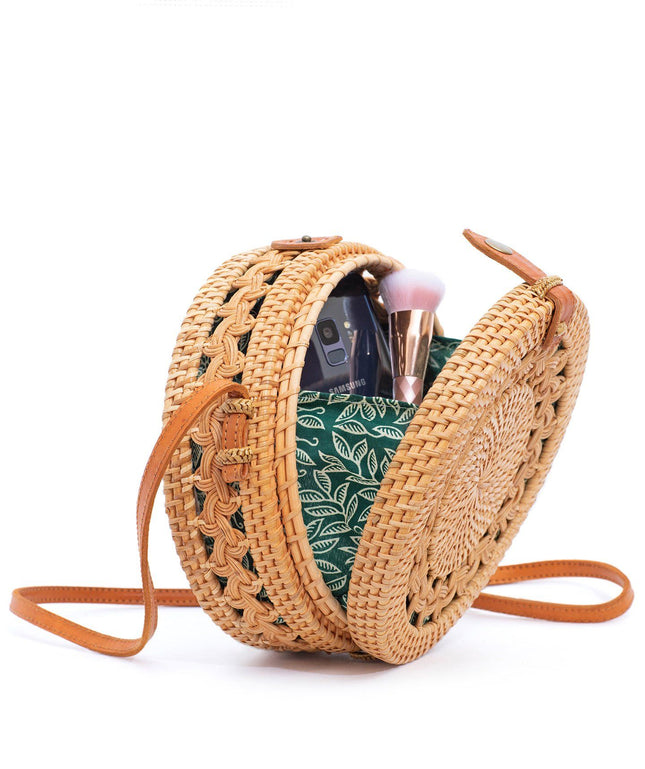 Rattan Bag (Medium) - Braided Details