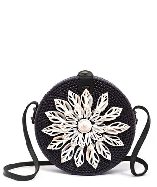 Ata Bag with Real Seashells (Black)- Guapa