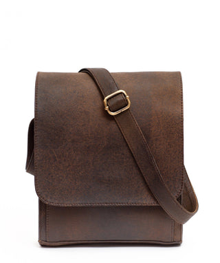 Leather Messenger Bag - Melia
