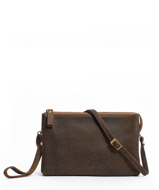 Leather Crossbody Clutch - Nelle