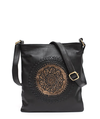 Leather Messenger Bag - Cyrene