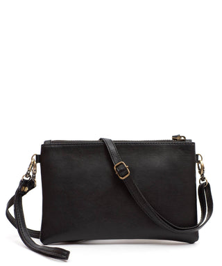 Leather Crossbody Clutch - Ciara