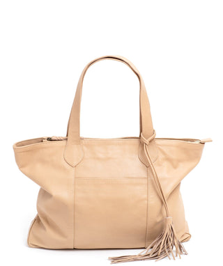 Leather Tote Bag - Kaia