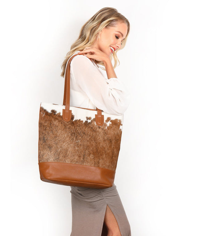 Leather Tote Bag - Mona
