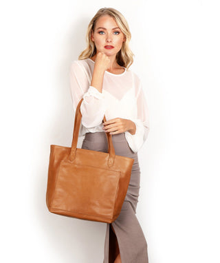 Leather Tote Bag - Piper