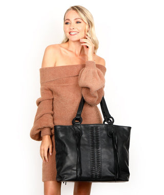Leather Tote Bag - Erika