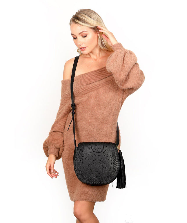 Leather Crossbody Bag - Ava
