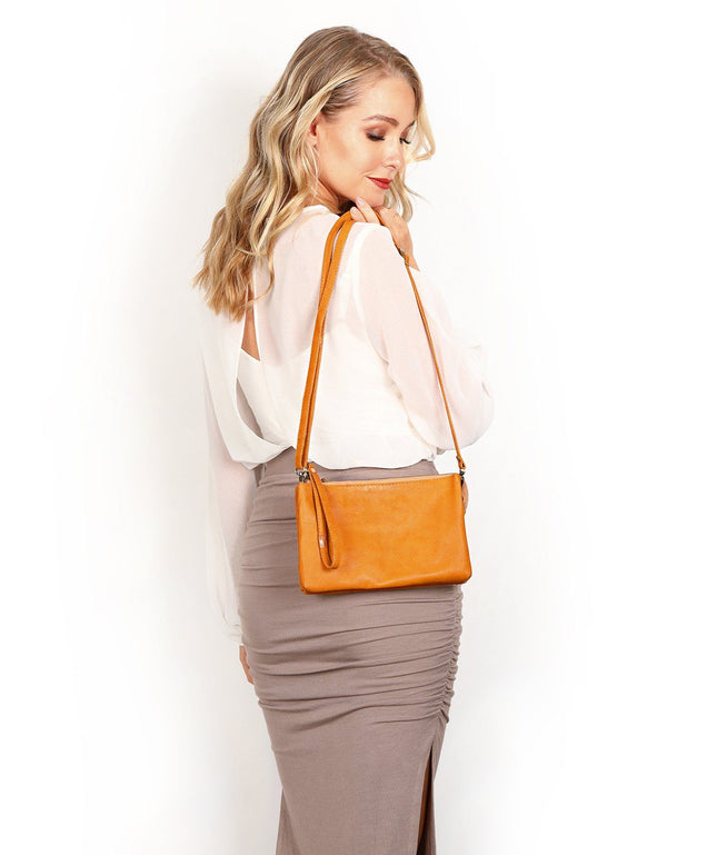 Leather Crossbody Clutch - Delilah
