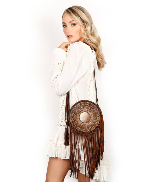 Leather Crossbody Bag - Hayden