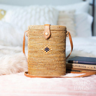 Rattan Bag - Black Detail