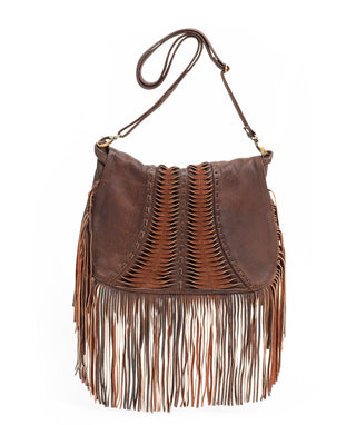 Leather Crossbody Bag - Celeste