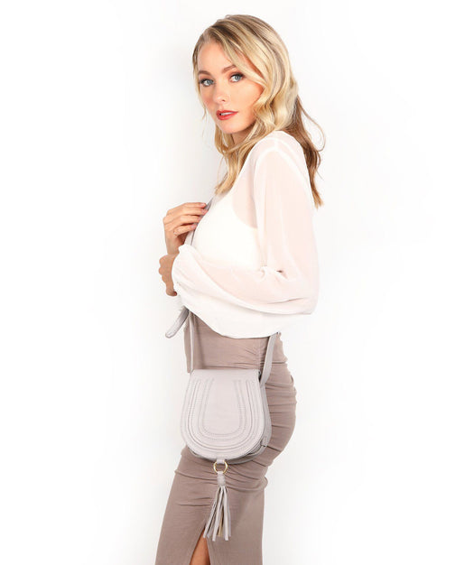Leather Crossbody Bag - Livia