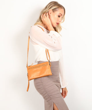 Leather Crossbody Purse - Gloria