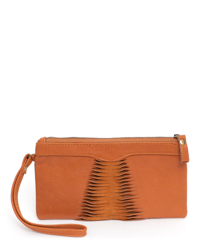 Leather Crossbody Clutch - April