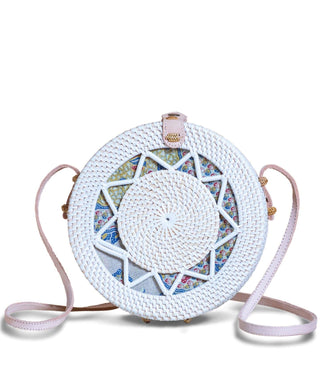 Rattan Bag (Medium) - Pearly
