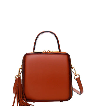 Leather Crossbody Bag - Storm
