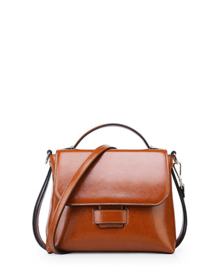 Leather Crossbody Bag - Ivy