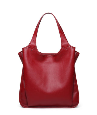 Leather Tote Bag - Rose
