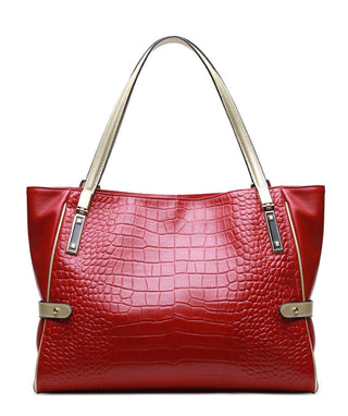 Leather Tote Bag - Summer